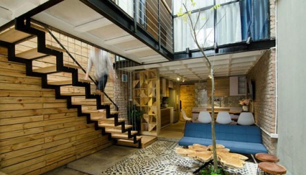 Nâng cao thẩm mỹ của ngôi nhà với cáp treo cầu thang