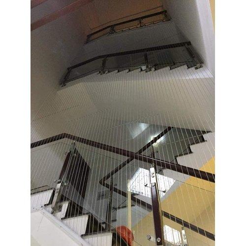 Lưới an toàn bảo vệ cầu thang chung cư trường học Hòa Phát