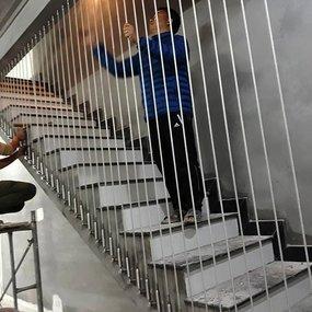 Thiết kế cầu thang dây cáp tại Mỹ Đình