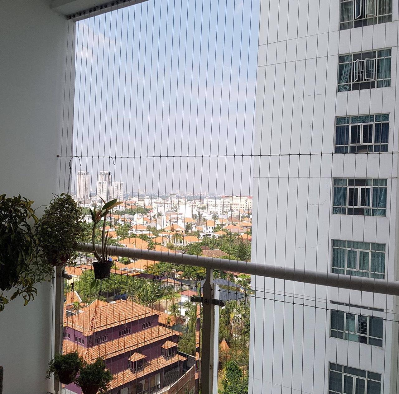 Lắp đặt lưới an toàn tại chung cư Hoàng Mai