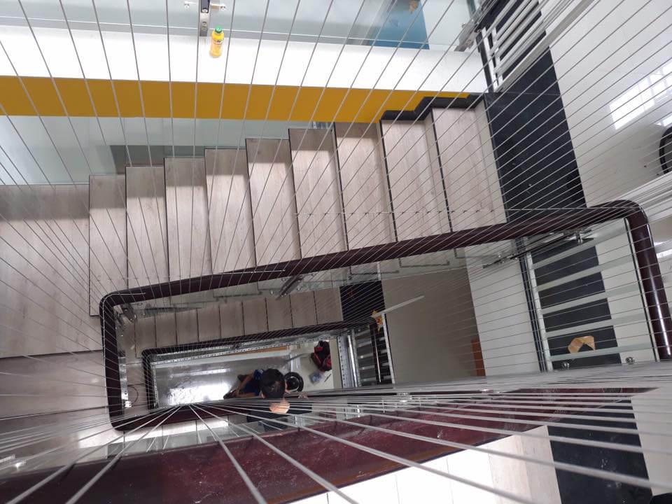 lưới bảo vệ cầu thang trường mầm non