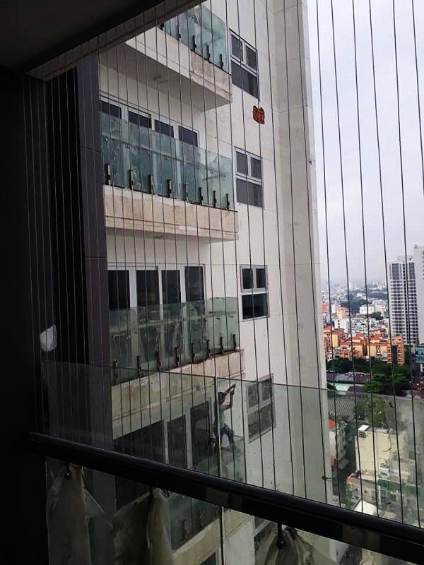 lắp lưới an toàn cho nhà cao tầng